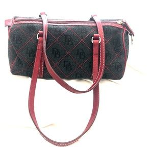 Dooney and Bourke leather and canvass bag